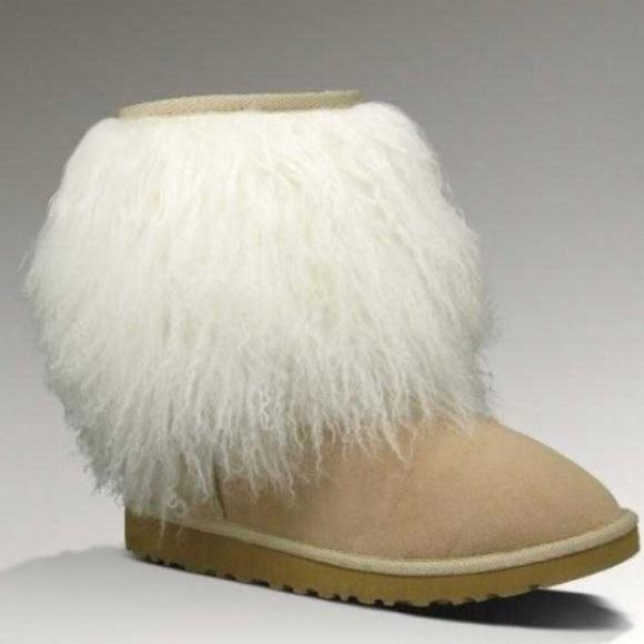 7375cf17ae1 Mongolian Short Sheepskin Cuff Ugg Boot NWT